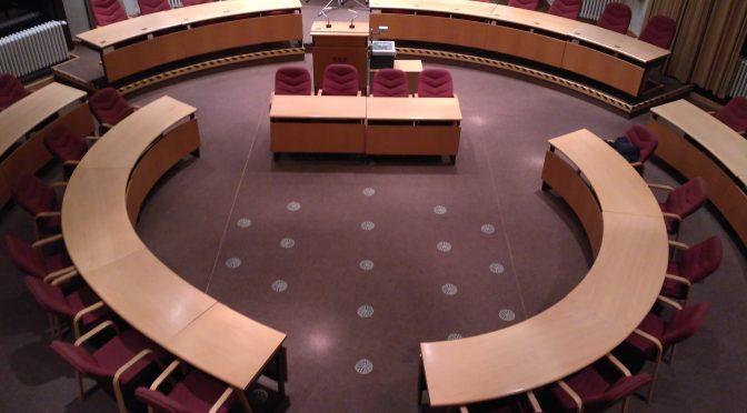 Ein Blick in den BVV Saal, Rathaus Tiergarten